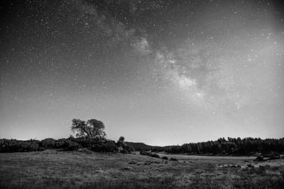 Poster featuring the photograph Black Oak And Milky Way by Alexander Kunz