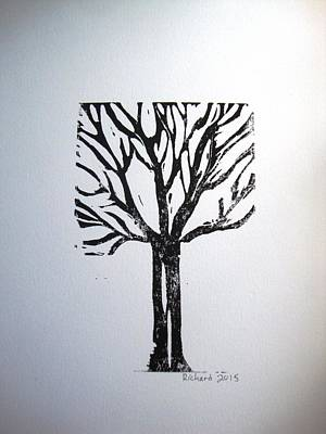 Black On White Tree Poster