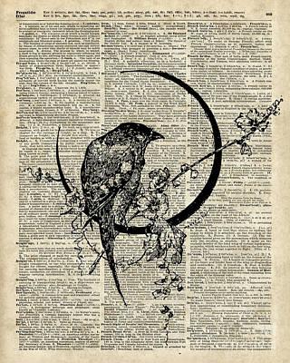 Black Raven Bird Poster by Jacob Kuch