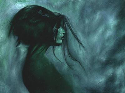 Poster featuring the painting Black Raven by Ragen Mendenhall
