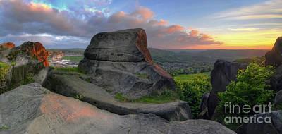 Black Rock 3.0 Panoramic Poster by Yhun Suarez