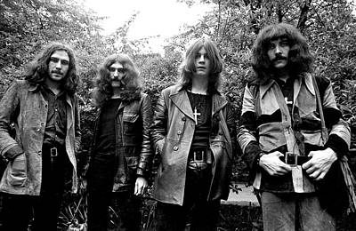 Poster featuring the photograph Black Sabbath 1970 #3 by Chris Walter