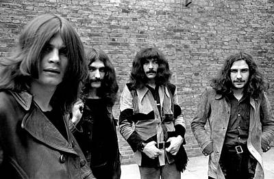 Poster featuring the photograph Black Sabbath 1970 #5 by Chris Walter