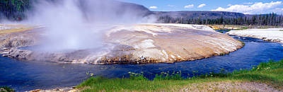 Black Sand Basin And Geyser Poster by Panoramic Images