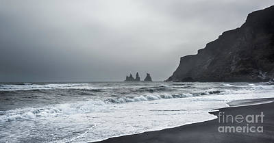 Black Sand Beach Poster by Svetlana Sewell