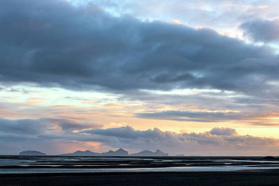 Poster featuring the photograph Black Sand Sunset Iceland by Brad Scott