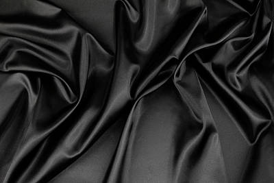 Black Silk Fabric Poster by Les Cunliffe