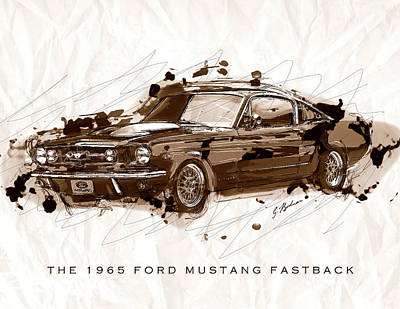 Black Stallion 1965 Ford Mustang Fastback #2 Poster