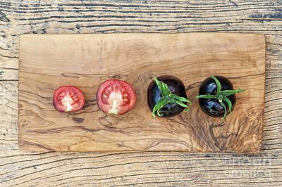 Black Tomatoes Indigo Rose Poster