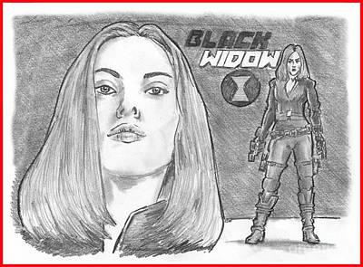 Black Widow Poster by Chris  DelVecchio