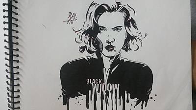 Black Widow Poster by Rujuta Upadhyay
