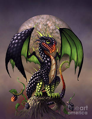 Blackberry Dragon Poster by Stanley Morrison