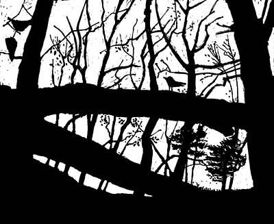 Blackbird In The Woods Poster by Martin Stankewitz