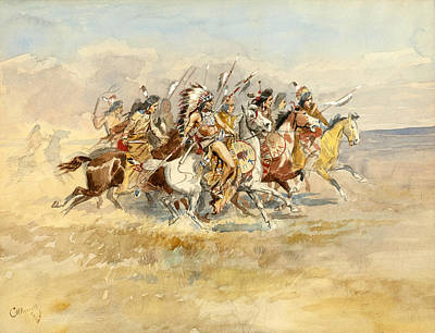 Blackfeet War Party Poster