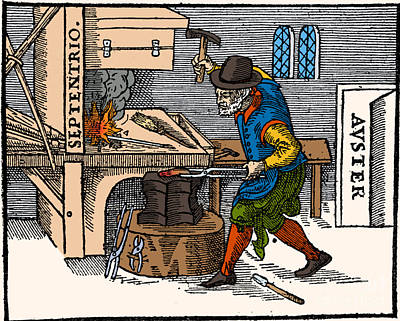 Blacksmith, 17th Century Illustration Poster by Science Source