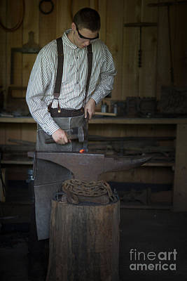 Blacksmith At Work Poster