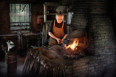Blacksmith - Blacksmiths Like It Hot Poster by Mike Savad