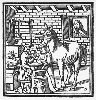 Blacksmith, C1250 Poster by Granger