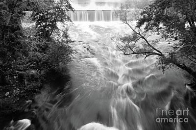 Blackstone River Dam At Manville Poster
