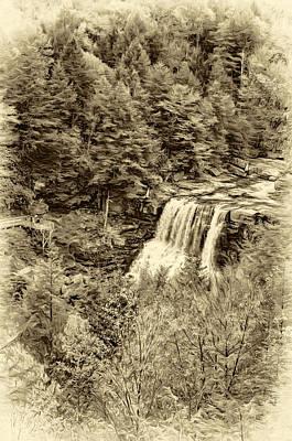 Blackwater Falls Wv - Sepia Poster by Steve Harrington