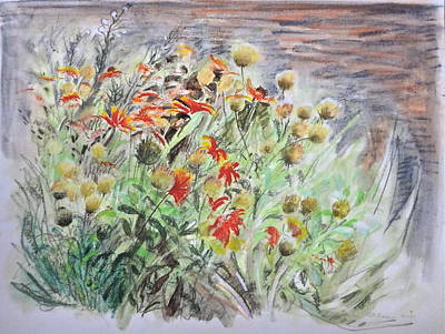 Blanket Flowers And Seedheads Poster by Bonnie See