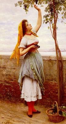 Blass Eugene De The Grape Picker Poster