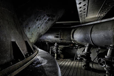 Poster featuring the photograph Blast Furnace Piping by Dirk Ercken