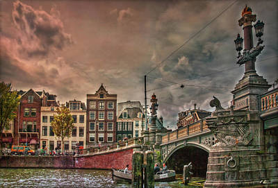 Poster featuring the photograph Blauwbrug -blue Bridge- by Hanny Heim