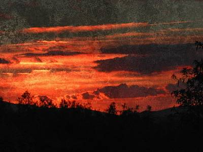 Blazing Sunset Poster by Dorothy Berry-Lound