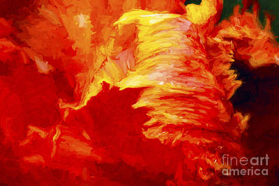Blazing Tulip Poster by Paul W Faust -  Impressions of Light