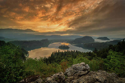 Bled On Fire Poster by Martin Podt