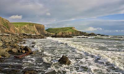 Blegberry Beach In North Devon Poster