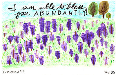 Blessed Abundantly Poster by Kristen Williams