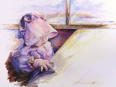 Blessing Psalm One Hundred And Seven Verse Nine Oil Painting Poster by Kim Guthrie
