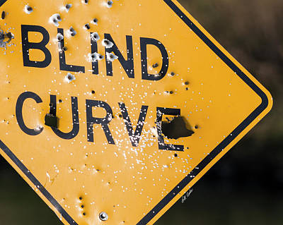 Poster featuring the photograph Blind Curve by Bill Kesler
