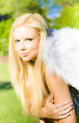 Blonde Angel Poster by Jorgo Photography - Wall Art Gallery