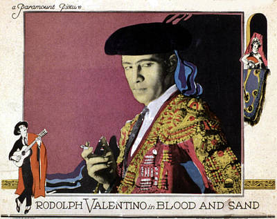 Blood And Sand, Rudolph Valentino, 1922 Poster by Everett