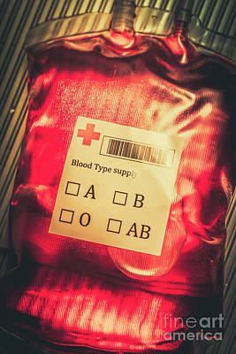 Blood Donation Bag Poster