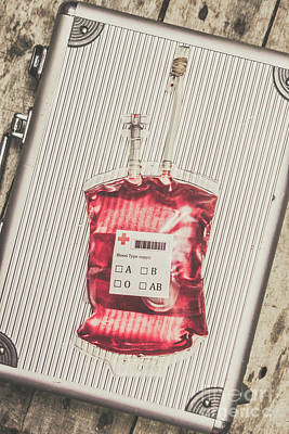 Blood Infusion Medical Kit Poster
