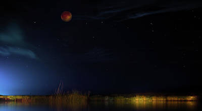 Blood Moon Country Poster by Mark Andrew Thomas