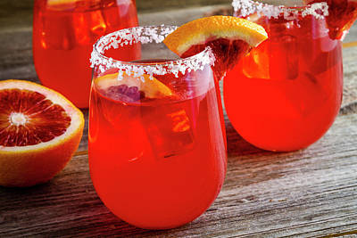 Poster featuring the photograph Blood Orange Margaritas by Teri Virbickis