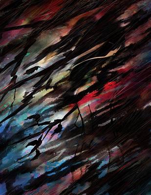 Bloody Rain Poster by Rachel Christine Nowicki