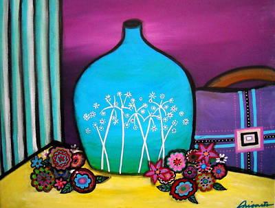 Bloom And Vase Poster by Pristine Cartera Turkus