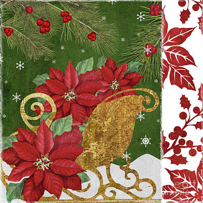 Blooming Christmas I Poster by Mindy Sommers