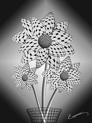 Blooming Flowers Poster by Eugenia Martini-Jarrett