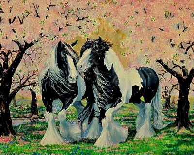 Blooming Gypsies Poster by Ruanna Sion Shadd a'Dann'l Yoder