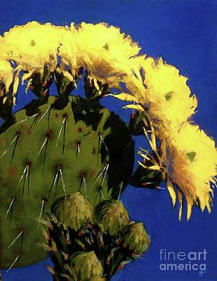 Blooming Prickly Pear Poster
