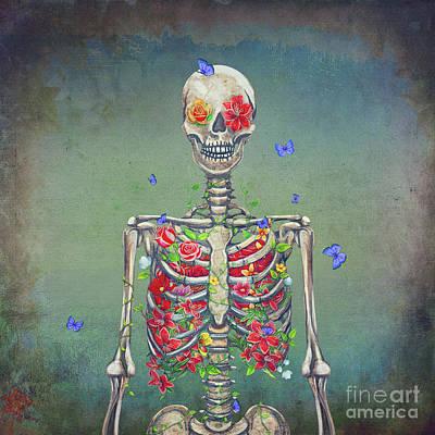 Blooming Skeleton  Poster