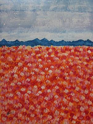 Blossomtime Original Painting Poster by Sol Luckman