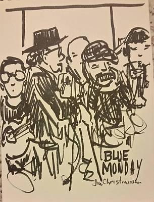 Blowing Harp At Blue Monday Poster by James Christiansen